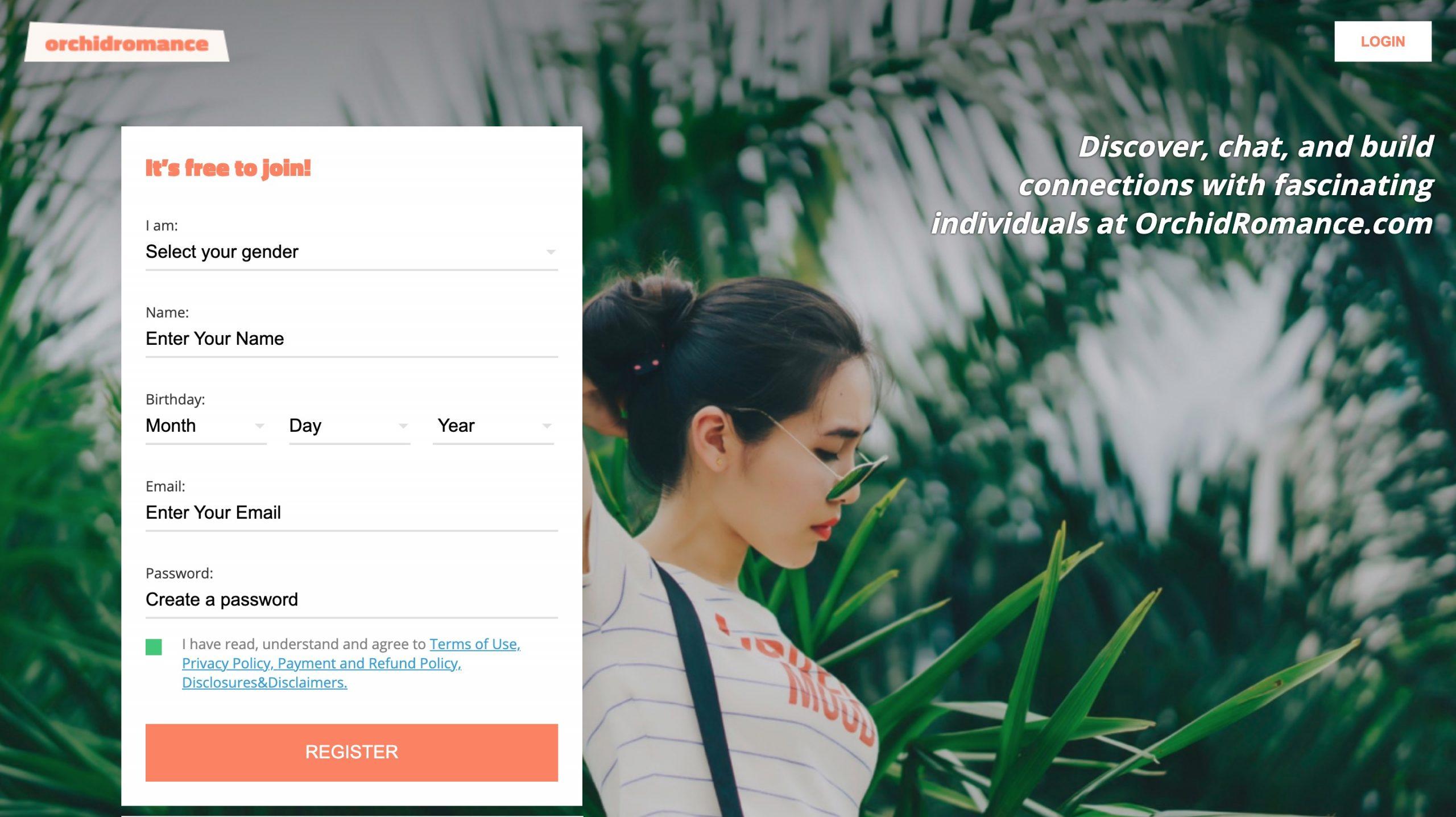 OrchidRomance main page