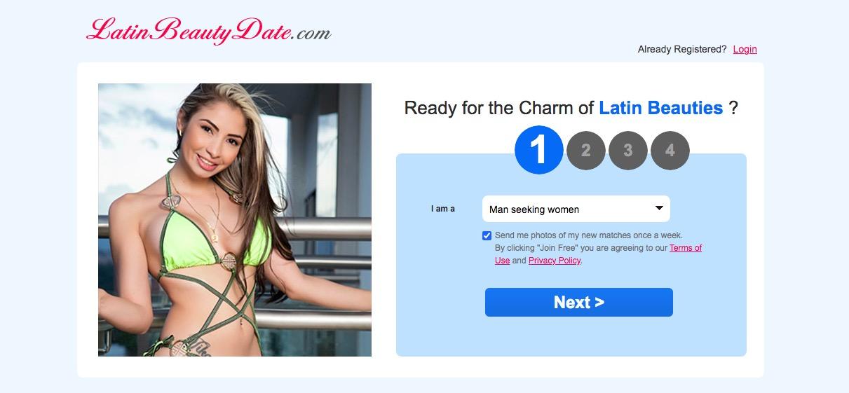 LatinBeautyDate main page