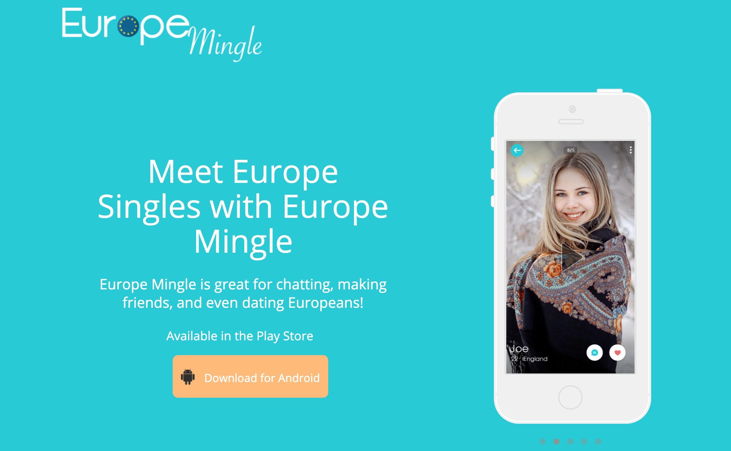 Europe Mingle main page