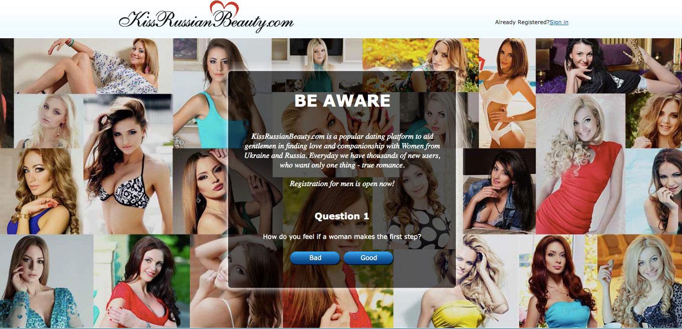 Kissrussianbeauty main page