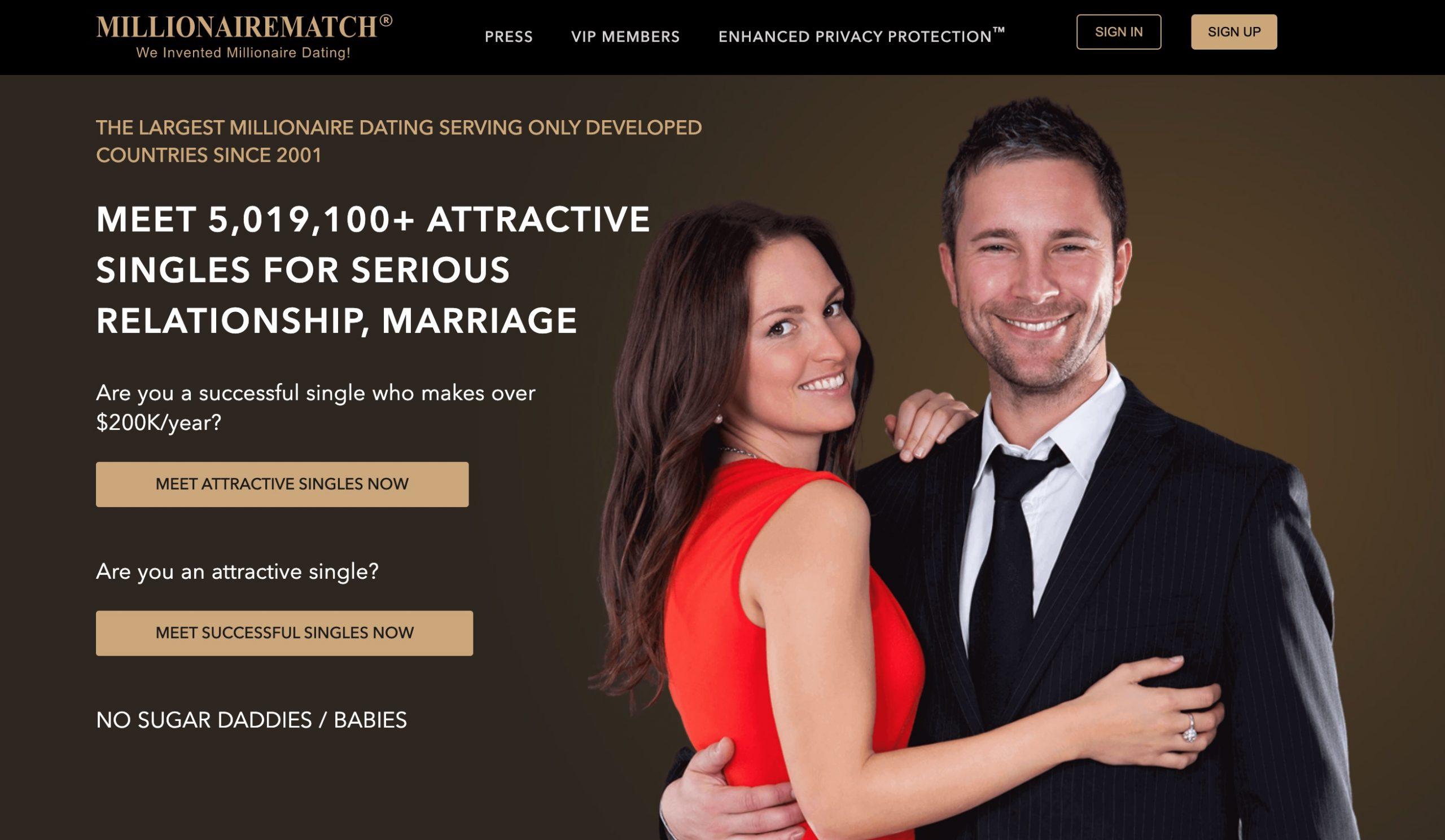 Millionairematch main page